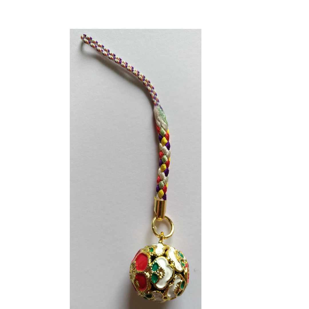 Flower Keychain with Bell Inside