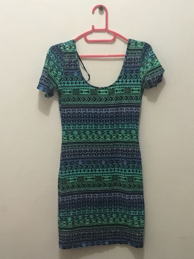 Forever 21 scoopback bodycon dress