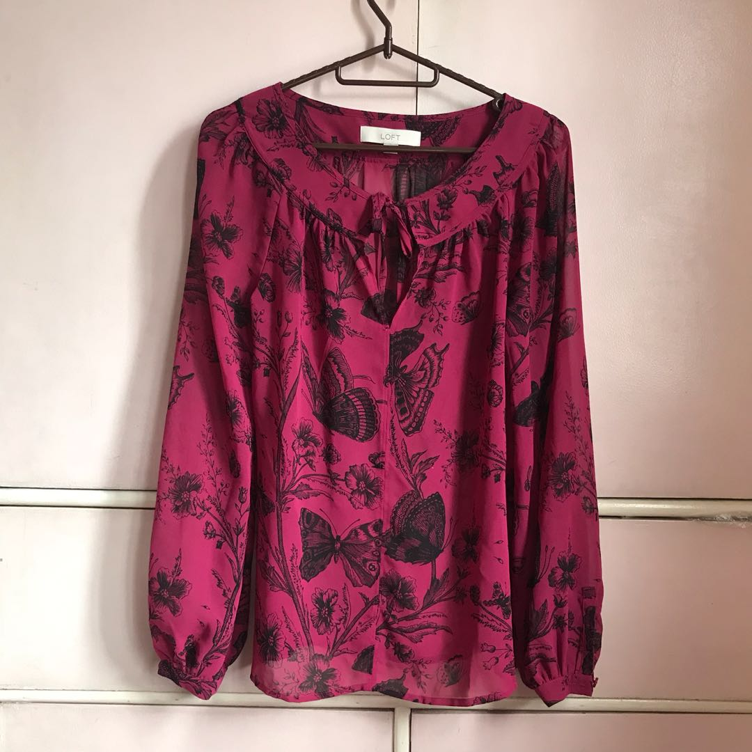 Fuchsia sheer top