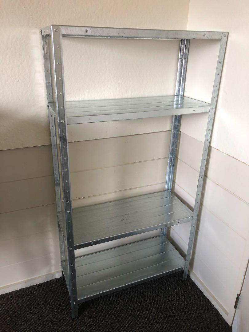 Galvanised 4 shelf unit