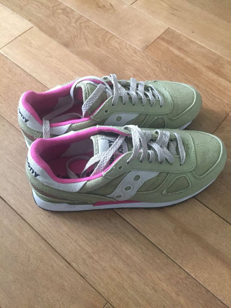 Green and Pink Saucony's