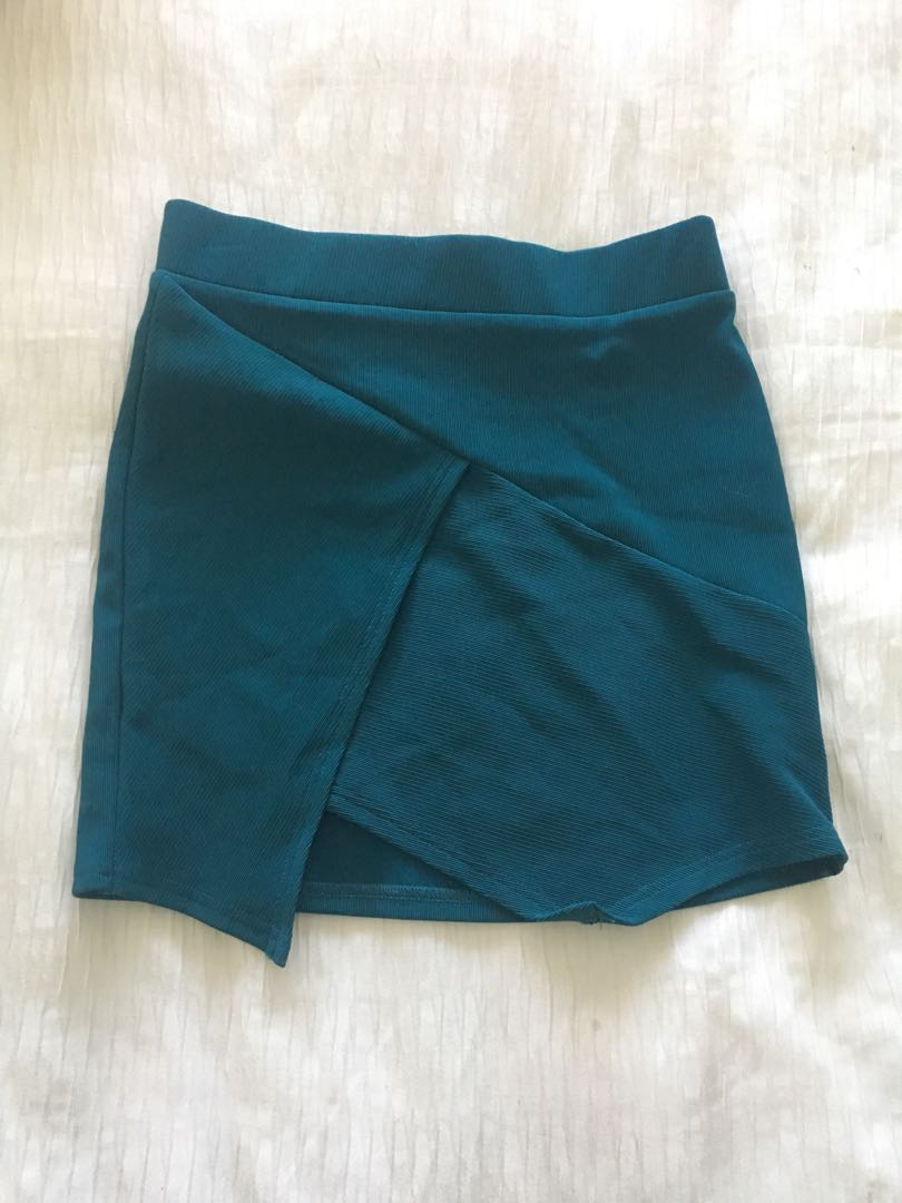 Green cross over skirt