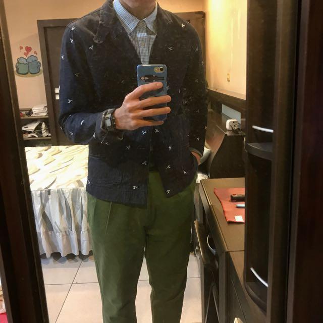 G-STAR 丹寧西裝外套 刺繡 牛仔外套 工裝 工作外套 S DIESEL