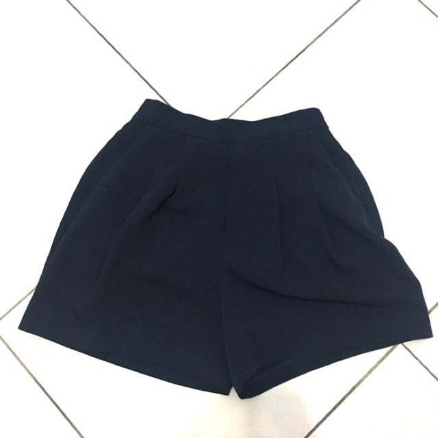 Gu深藍西裝短褲