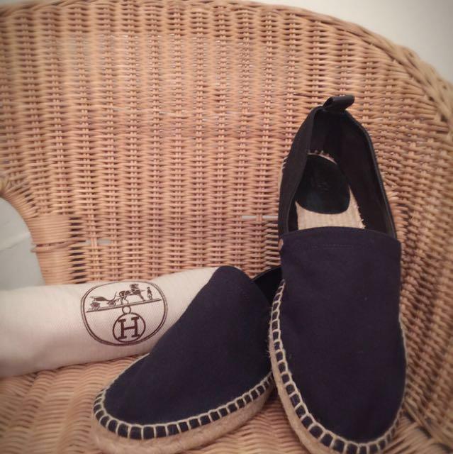 Hermes愛馬仕草編鞋
