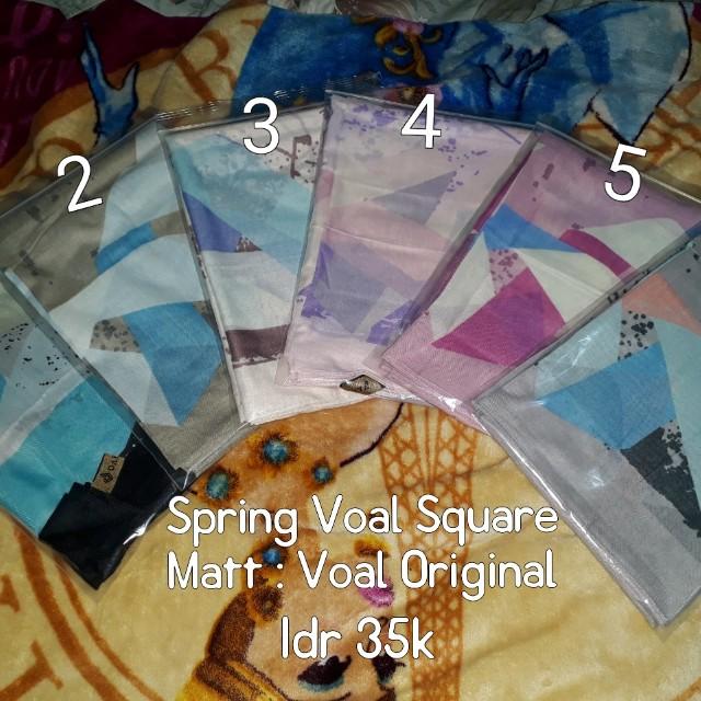 Hijab Spring Voal Square