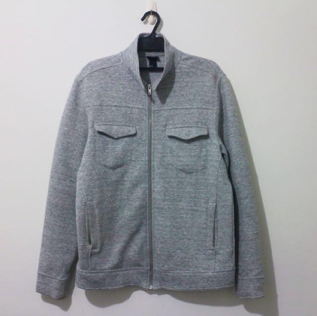 H&M立領灰色外套