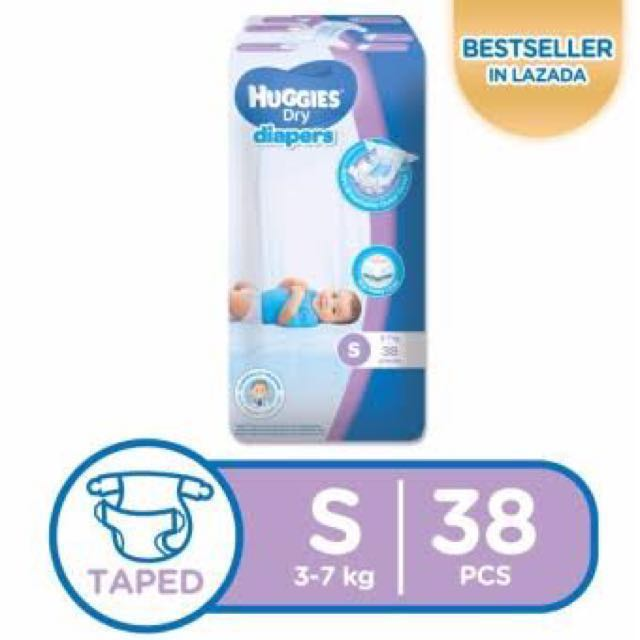 Huggies small taped 38's