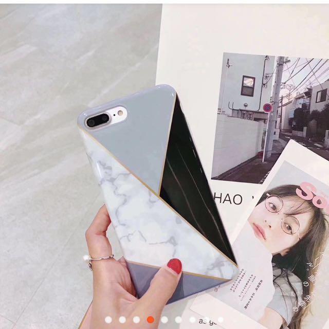 iPhone 6 大理石幾何拼接手機殼