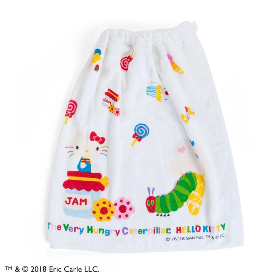 Japan Sanrio Hello Kitty The Very Hungry Caterpillar Wrap Towel