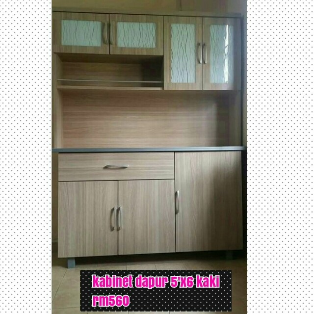 Kabinet Dapur Lebar 5 Kaki Tinggi 6 Home Furniture On Carou