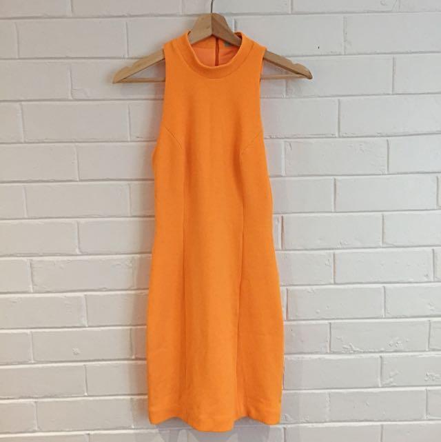 Kookai Fluorescent Orange Dress