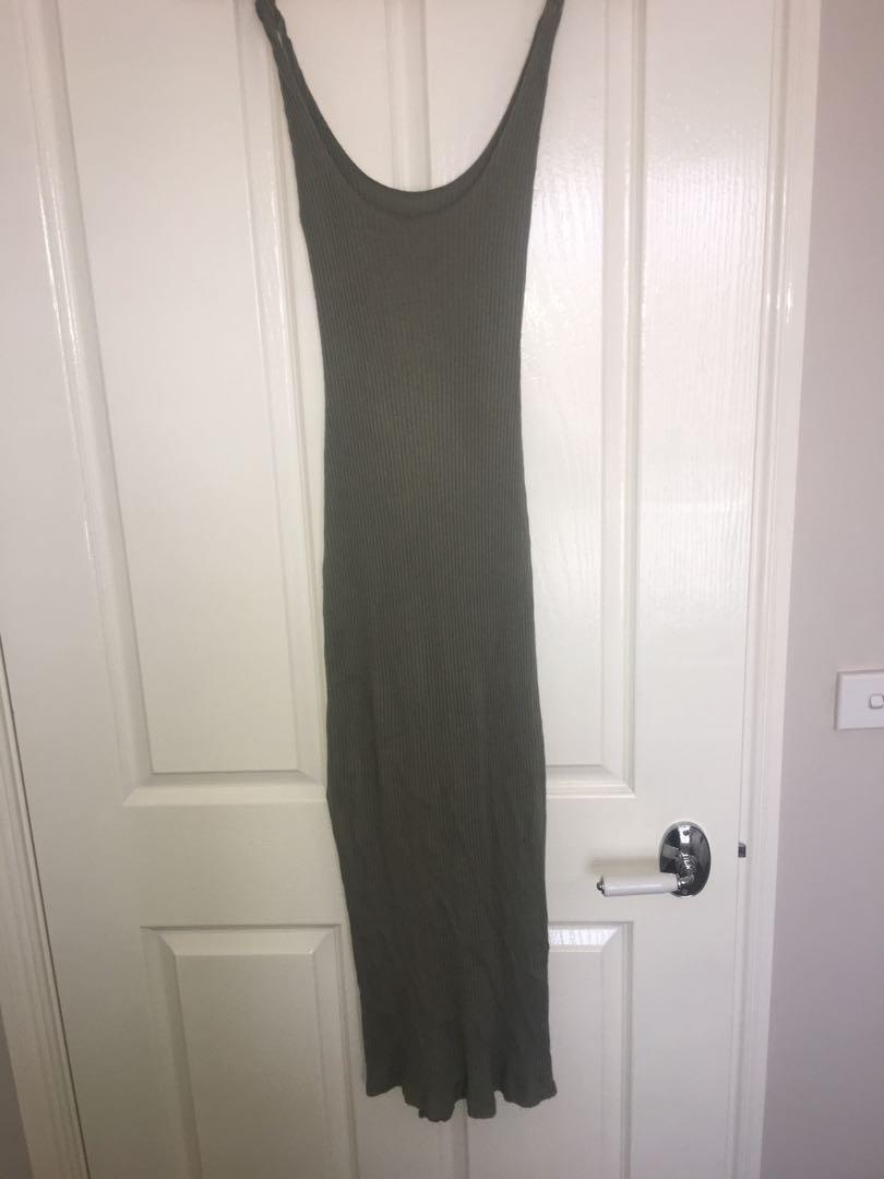 Kookai Maxi Ribbed Dress Size 1