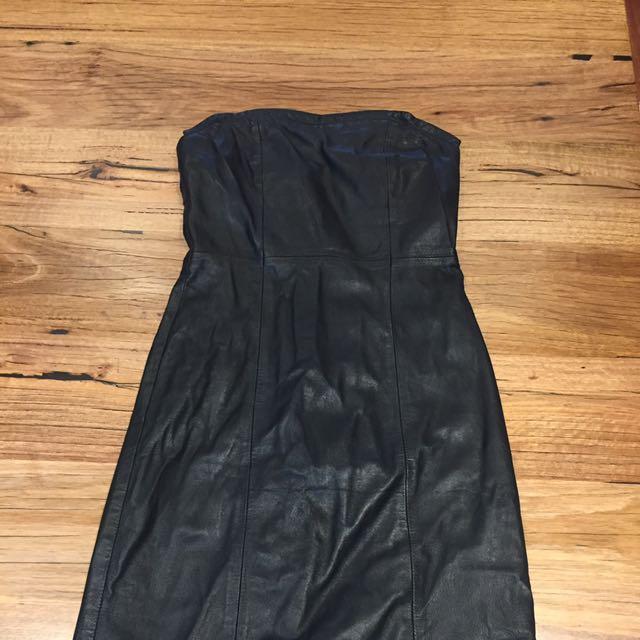 Leather Dress Size 8