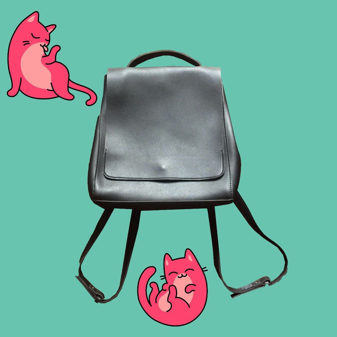 Leather Minimalist Backpack