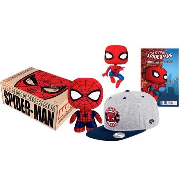 Marvel Collector Corps - Spiderman - Funko pop - exclusive official goods - August 2016