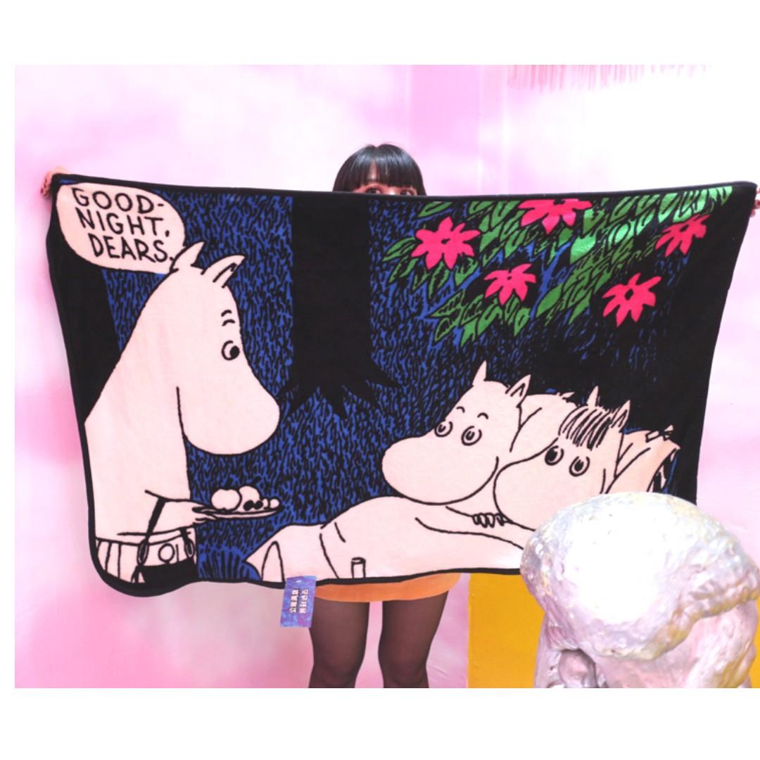 「Moomin 嚕嚕米 姆明 被子 / 毯子 / 毛毯 135x80cm @公雞漢堡」