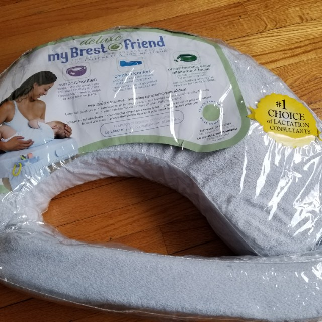 My breastfriend nursing pillow. Deluxe plush. Removable washable  cover. Practically new. Pick up Beaches or Yorkville. Ad will be removed once sold.
