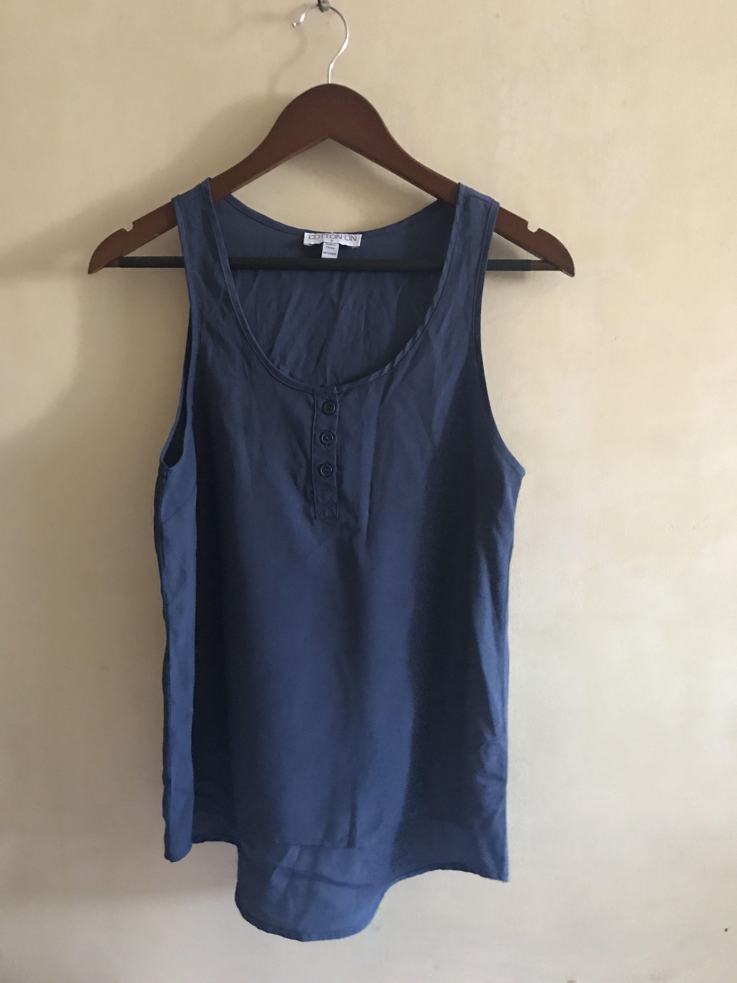 Navy Blue Sleeveless