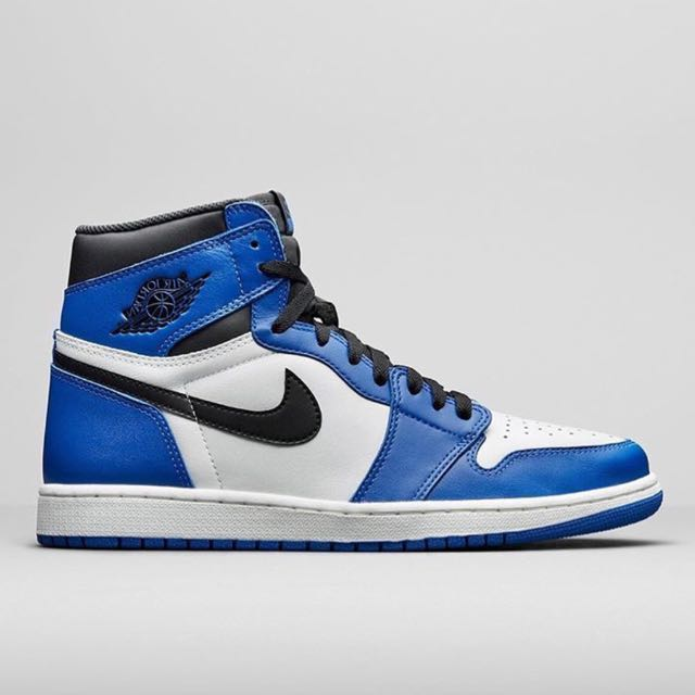 brand new 9de72 74cfa ... schuhe schwarz 5ad54 558e8  australia nike air jordan azul 1 game royal  azul jordan talla us 9.5 eu 43 bnib