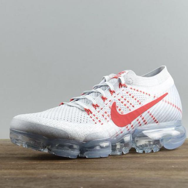 fef13d123b1 Nike Air Vapormax Flyknit OG  Pure Platinum University Red
