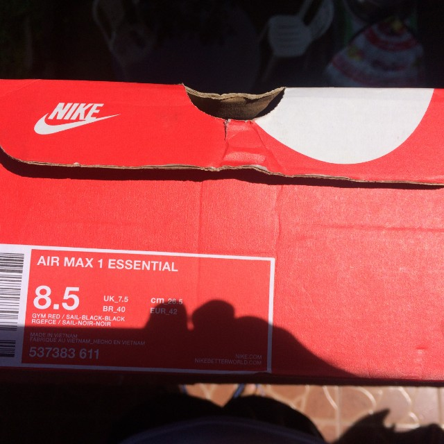best sneakers c8e77 125b2 Nike Airmax 1 Essential, Men s Fashion, Footwear, Sneakers on Carousell