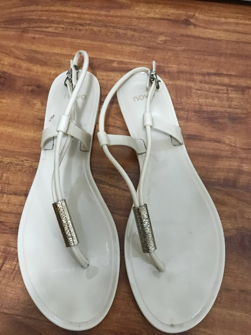 NOVA nude flat sandal size 41/ uk size 7