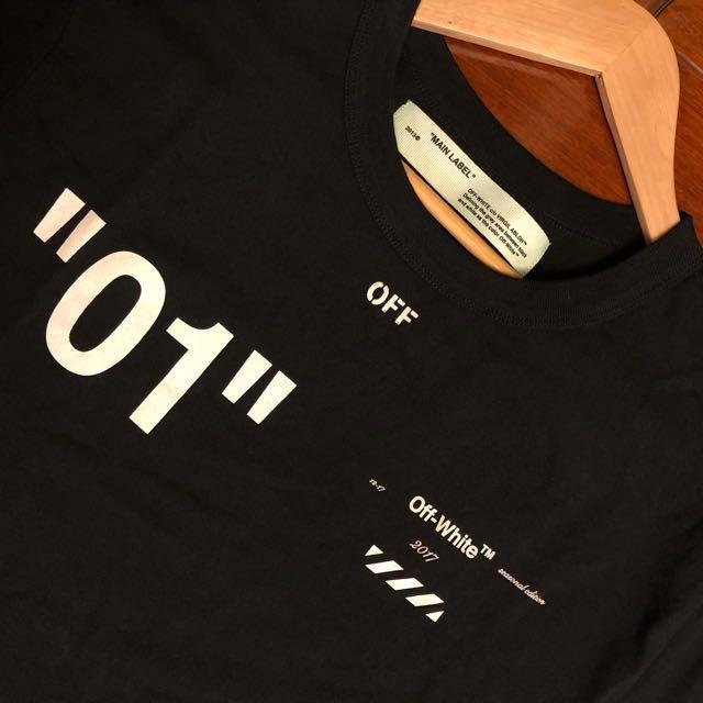 Off White 01 黑t-shirt