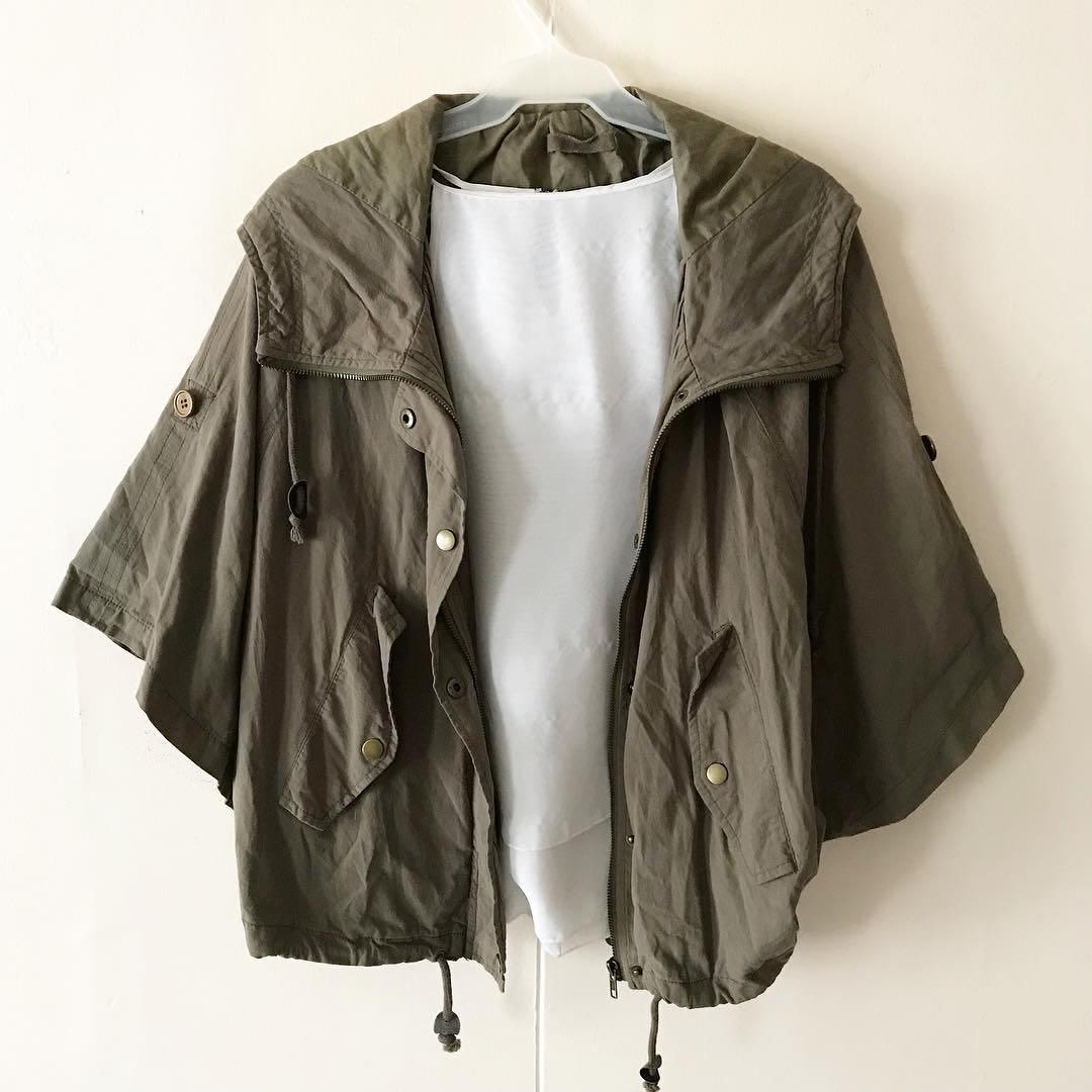 Olive Green Hooded Parka / Jacket