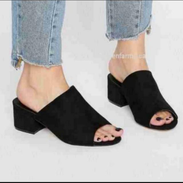 💯%orig. JACOBIES PEPTOE Chunky heels