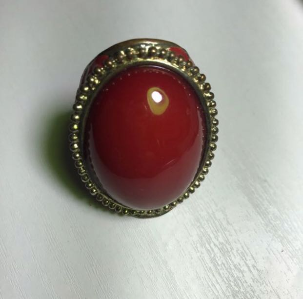 Oversized Ruby Ring