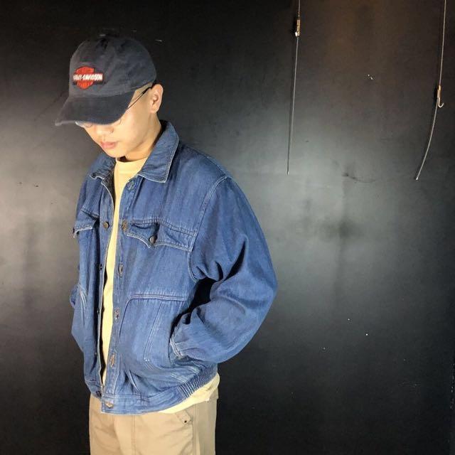 第二件六折*古著造型口袋oversize牛仔夾克外套js01