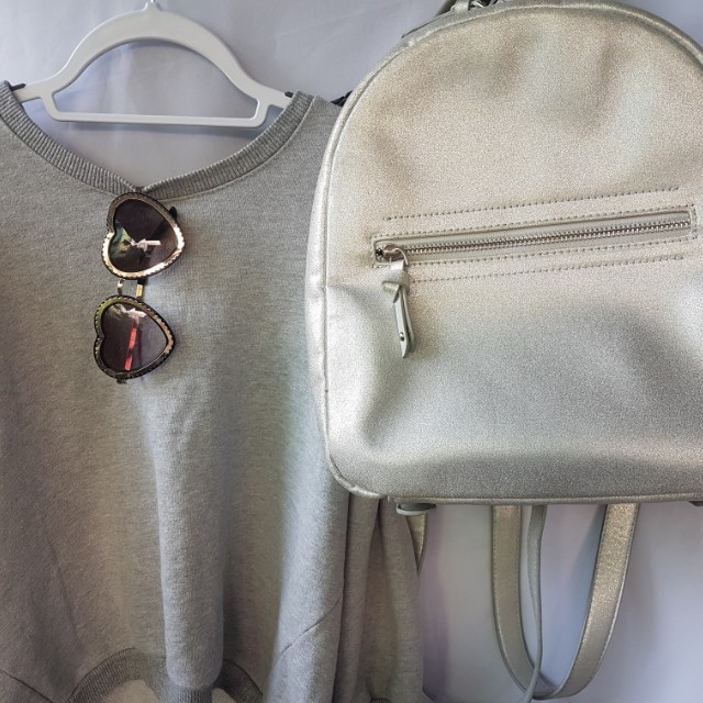 Parfois silver backpack