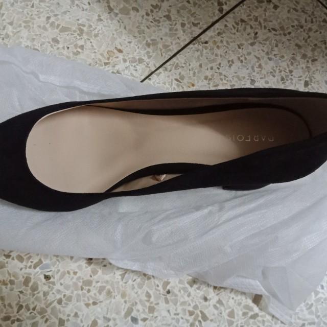 Parfois suede block heels
