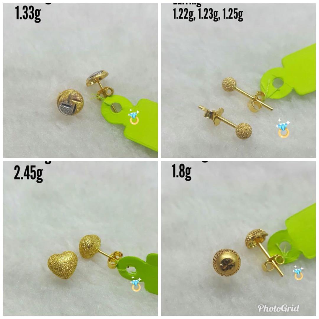 Pawnable Saudi Gold Earring 18k