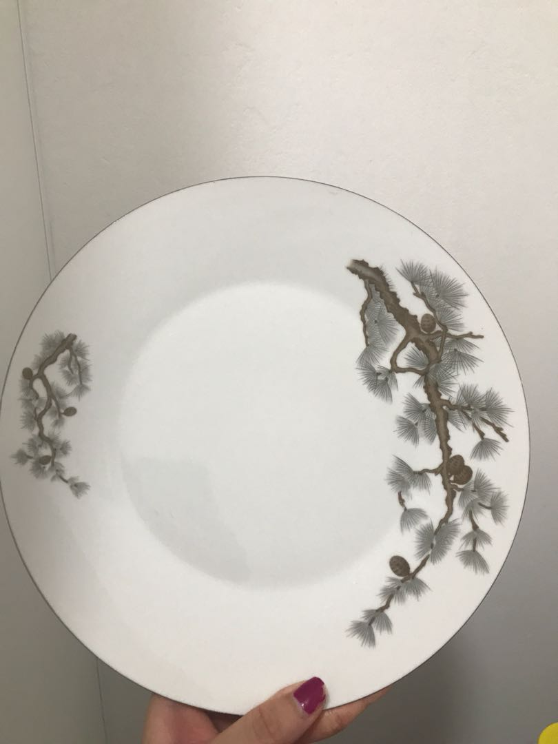 Plate with tree pattern rrp6