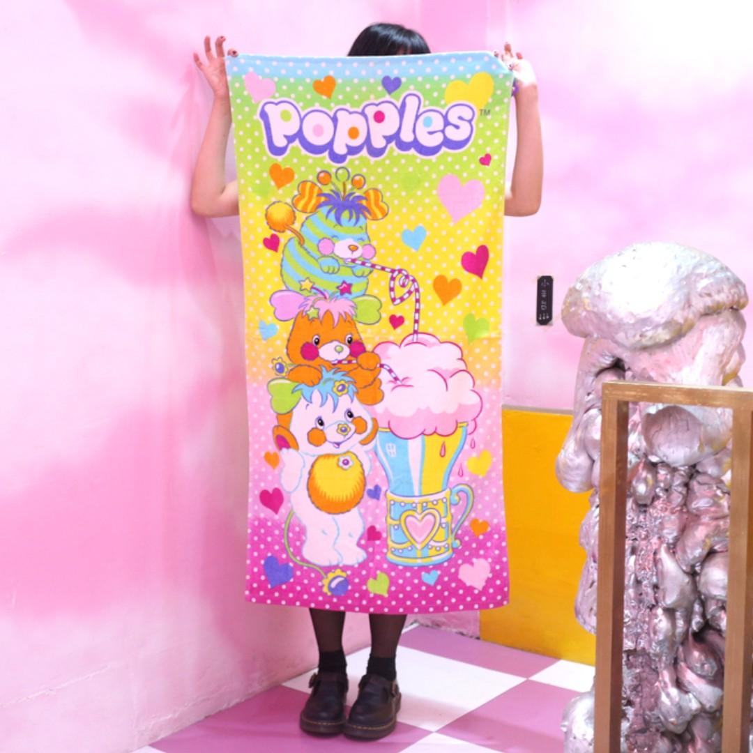 「Popples 浴巾 毛巾 毯子 120x60cm @公雞漢堡」