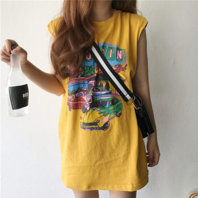 PREORDER Summer Cartoon T-Shirt Dress