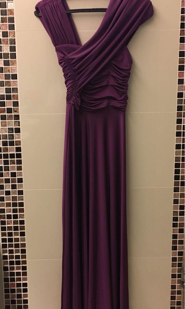 Purple long formal dress - For Rent