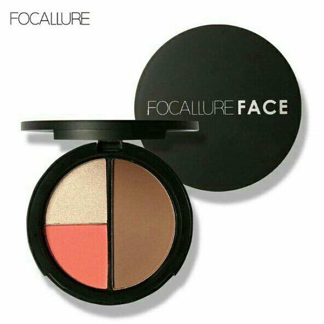 Ready Stock! Focallure Trio face powder