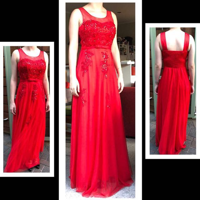 Red Ball Dress Size 8-12