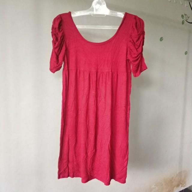Red dress spandex melar casual