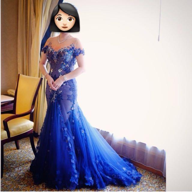 Rental Baju Pesta Navy Blue Evening Gown Size M Women S Fashion