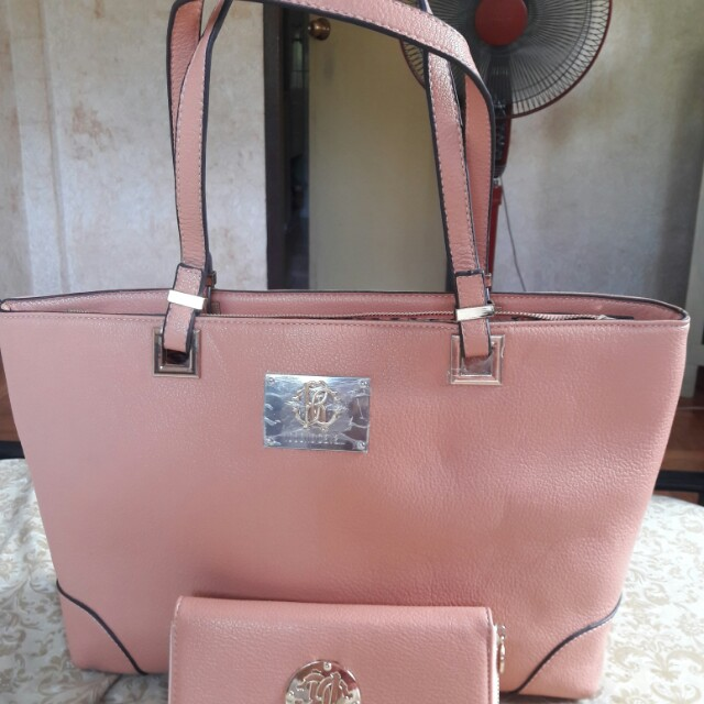 ROBERTO CAVALLI Faux Leather Large Tote Bag with Wallet From Kuwait