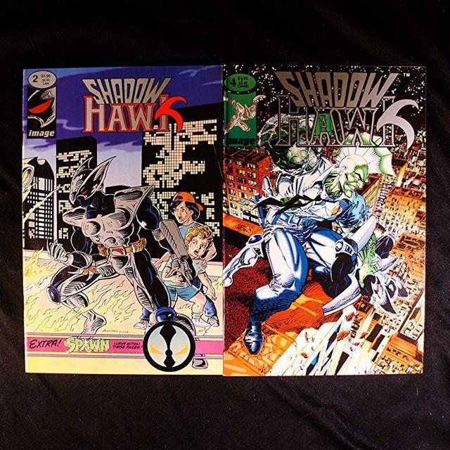 SHADOWHAWK #2, 4 (1992 Image) + SHADOWHAWK II #2 (1993 Image) Jim Valentino [Lot of 3]