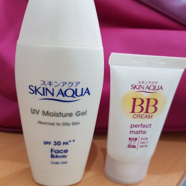 Skin aqua moisture gel dan bb cream