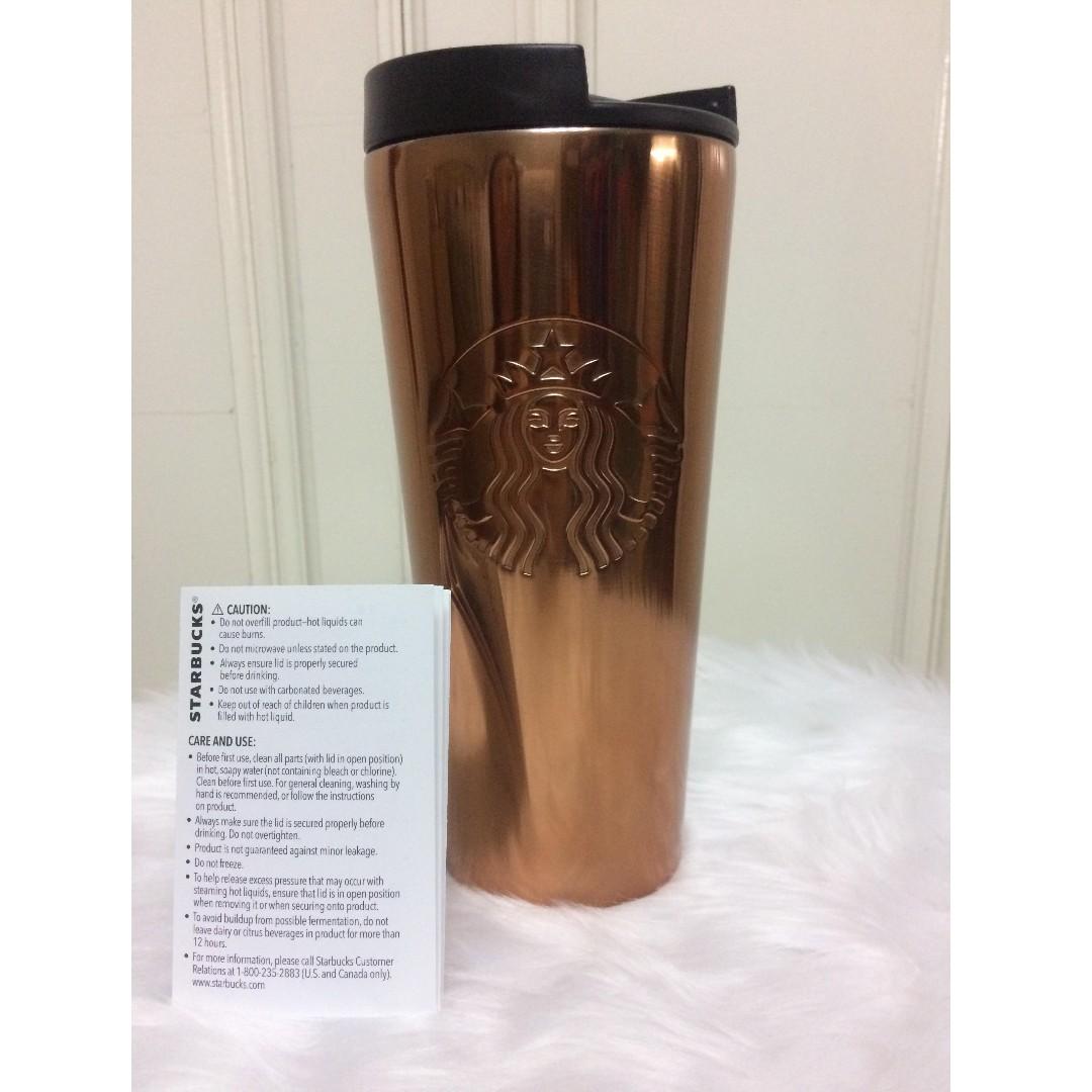 Starbucks Tumbler Embossed Logo Bronze, 16oz 20%off