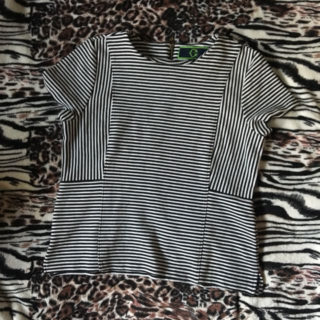 Wonder Formal Striped Top