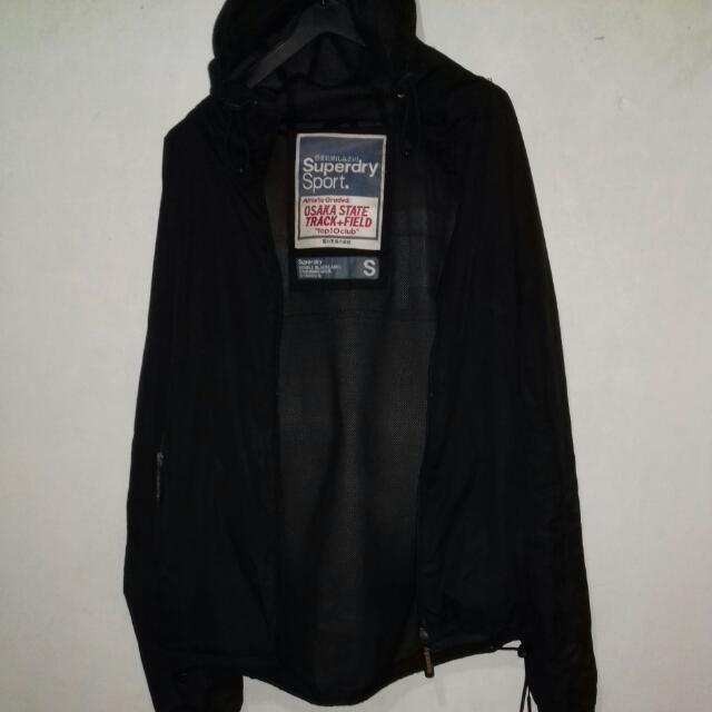 Superdry Black Jacket Original Size S, Fit To M