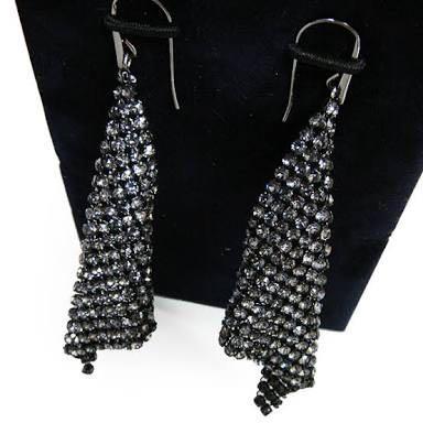 Swarovski Fit earring Black/Formal/Club earring